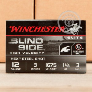 "Picture of 12 GAUGE WINCHESTER BLIND SIDE 3"" 1-1/8 OZ. #3 STEEL SHOT (25 ROUNDS)"