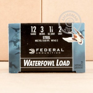 "Picture of 12 GAUGE FEDERAL SPEED SHOK 3"" 1 1/8OZ. #2 STEEL SHOT WATERFOWL LOAD (25 ROUNDS)"