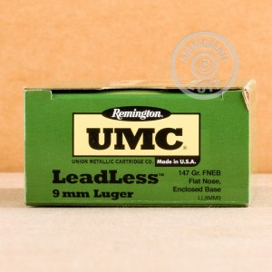 Picture of 9MM REMINGTON UMC 147 GRAIN FNEB LEADLESS (50 ROUNDS)