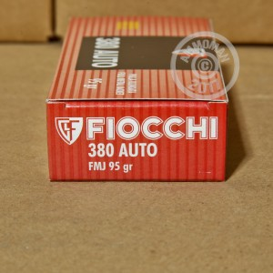 Picture of 380 ACP FIOCCHI SHOOTING DYNAMICS 95 GRAIN FMJ (50 ROUNDS)