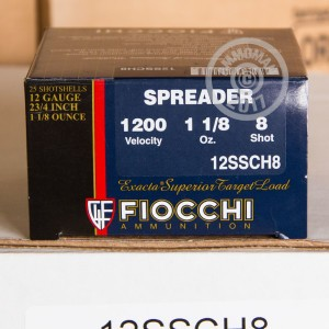 "Picture of 12 GAUGE FIOCCHI SPREADER 2-3/4"" 1 1/8 OZ #8 SHOT (250 ROUNDS)"