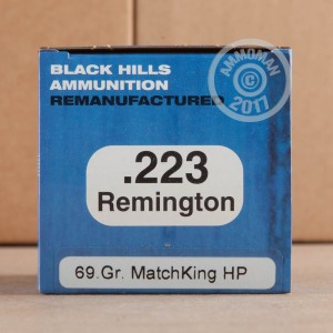 Picture of 223 REMINGTON BLACK HILLS REMANUFACTURED 69 GRAIN SIERRA MATCHKING OTM (50 ROUNDS)