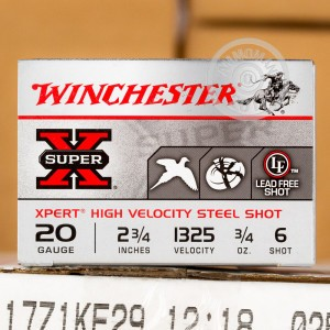 "Picture of 20 GA WINCHESTER SUPER-X 2-3/4"" #6 STEEL SHOT (250 ROUNDS)"