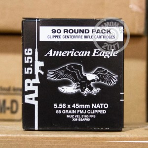 Picture of 5.56 NATO FEDERAL AMERICAN EAGLE 55 GRAIN FMJ (90 ROUNDS)