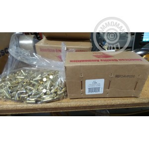 Picture of 9MM LUGER AMERICAN QUALITY AMMUNITION 124 GRAIN FMJ (250 ROUNDS)
