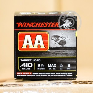"""Picture of 410 BORE WINCHESTER AA 2-1/2"""" #9 SHOT (250 ROUNDS)"""