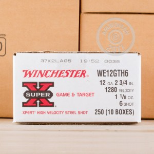 """Picture of 12 GAUGE WINCHESTER 2-3/4"""" #6 STEEL (25 ROUNDS)"""