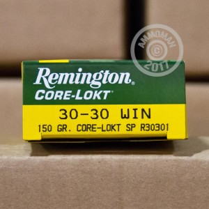 Picture of 30-30 REMINGTON CORE-LOKT 150 GRAIN SP (20 ROUNDS)