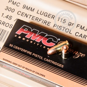 Picture of 9MM PMC 115 GRAIN FULL METAL JACKET BATTLE PACK (900 ROUNDS)