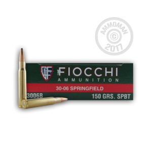 Picture of 30-06 SPRINGFIELD FIOCCHI 150 GRAIN SP (20 ROUNDS)