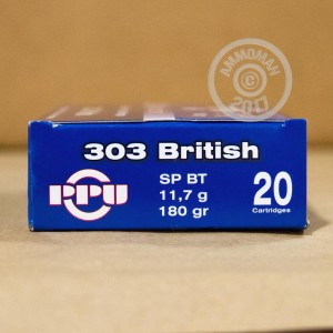 Picture of .303 BRITISH PRVI PARTIZAN 180 GRAIN SOFT POINT BOAT TAIL (500 ROUNDS)