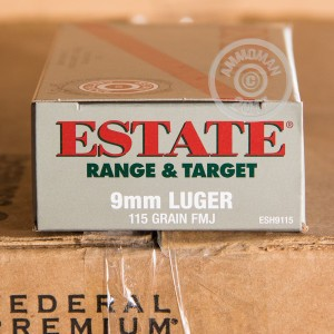 Picture of 9MM LUGER ESTATE 115 GRAIN FMJ (50 ROUNDS)