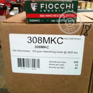 Picture of 308 WIN FIOCCHI EXACTA 180 GRAIN SIERRA MATCHKING HP (20 ROUNDS)