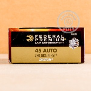 Picture of 45 ACP FEDERAL PREMIUM LAW ENFORCEMENT 230 GRAIN HST JHP (1000 ROUNDS)