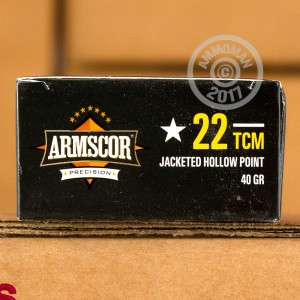 Picture of 22 TCM ARMSCOR PRECISION 40 GRAIN JHP (50 ROUNDS)