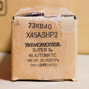 Picture of 45 ACP WINCHESTER SILVERTIP 185 GRAIN JHP (20 ROUNDS)