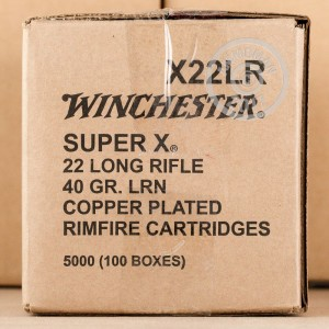 Picture of 22 LR WINCHESTER SUPER-X 40 GRAIN COPPER PLATED ROUND NOSE (500 ROUNDS)
