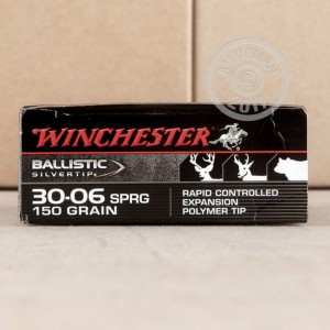 Picture of 30-06 SPRINGFIELD WINCHESTER BALLISTIC SILVERTIP 150 GRAIN POLYMER TIP (20 ROUNDS)