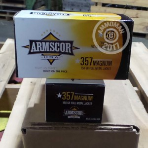 Picture of 357 MAGNUM ARMSCOR USA 158 GRAIN FMJ (50 ROUNDS)