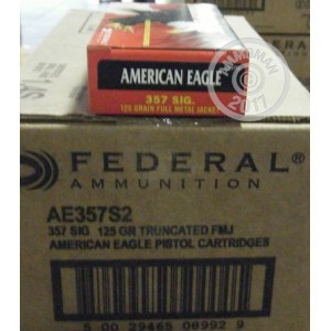 Picture of 357 SIG FEDERAL AMERICAN EAGLE 125 GRAIN FMJ (50 ROUNDS)