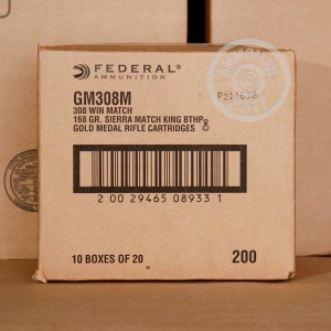 Picture of .308 FEDERAL MATCH 168 GRAIN SIERRA MATCHKING (500 ROUNDS)