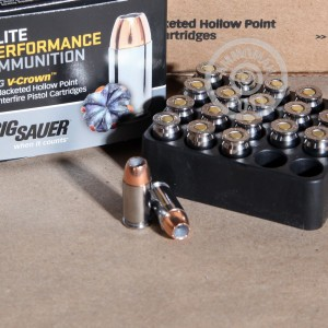 Picture of .380 ACP SIG SAUER 90 GRAIN JHP (20 ROUNDS)