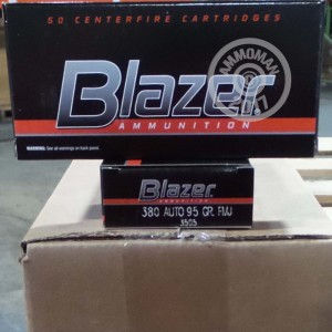 Picture of 380 ACP BLAZER 95 GRAIN FMJ (1000 ROUNDS)