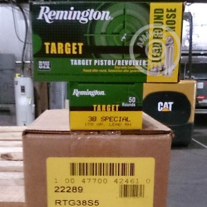 Picture of 38 SPECIAL REMINGTON TARGET 158 GRAIN LRN (500 ROUNDS)