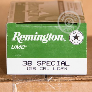 Picture of 38 SPECIAL REMINGTON UMC 158 GRAIN LRN (500 ROUNDS)