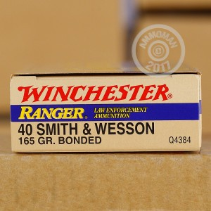 Picture of 40 S&W WINCHESTER RANGER 165 GRAIN BONDED JHP (50 ROUNDS)