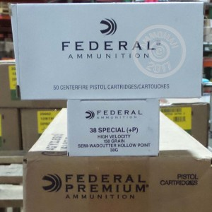Picture of 38 SPECIAL +P FEDERAL 158 GRAIN LSWCHP (1000 ROUNDS)