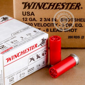 "Picture of 12 GAUGE WINCHESTER USA HEAVY GAME & TARGET 2-3/4"" 1-1/8 OZ. #8 SHOT (100 ROUNDS)"