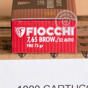 Picture of 32 ACP FIOCCHI 73 GRAIN FULL METAL JACKET (1000 ROUNDS)