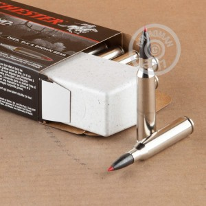 A photograph of 20 rounds of 300 grain 338 Lapua Magnum ammo with a Polymer Tipped bullet for sale.