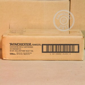 Picture of 223 REMINGTON WINCHESTER RANGER 69 GRAIN HPBT (20 ROUNDS)