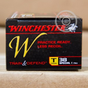 Picture of 38 SPECIAL WINCHESTER TRAIN & DEFEND 130 GRAIN FMJ (500 ROUNDS)