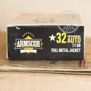 Picture of 32 ACP ARMSCOR 71 GRAIN FMJ (50 ROUNDS)