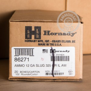 Picture of 12 GAUGE HORNADY AMERICAN WHITETAIL 325 GRAIN SABOT SLUG (5 SHELLS)