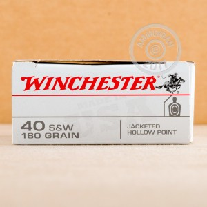 Picture of 40 S&W WINCHESTER 180 GRAIN JHP (50 ROUNDS)