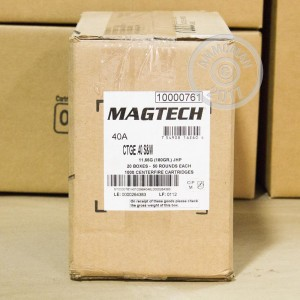 Picture of 40 S&W MAGTECH 180 GRAIN JHP (50 ROUNDS)
