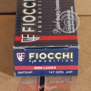 Picture of 9MM LUGER FIOCCHI 147 GRAIN JHP (1000 ROUNDS)