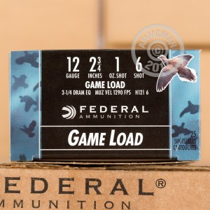 "Picture of 12 ga - 2-3/4"" Lead Shot Game Load - 1 oz - #6 - Federal Game-Shok - 250 Rounds"