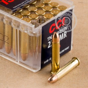 Picture of 22 WMR CCI TNT GREEN 30 GRAIN HP (50 ROUNDS)