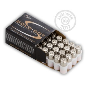 Image of .40 Smith & Wesson ammo by Speer that's ideal for home protection.