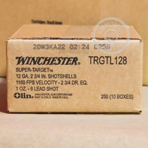 "Picture of 12 GAUGE WINCHESTER SUPER TARGET XTRA-LITE TARGET LOAD 2 3/4"" 1 OZ. #8 SHOT (250 ROUNDS)"