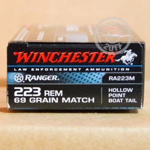 Picture of 223 REMINGTON WINCHESTER RANGER 69 GRAIN HPBT (200 ROUNDS)