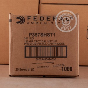 Picture of 357 SIG FEDERAL PREMIUM 125 GRAIN HST JHP (1000 ROUNDS)