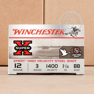 "Picture of 12 GAUGE WINCHESTER SUPER-X XPERT HV 3"" 1-1/4 OZ #BB STEEL SHOT (25 ROUNDS)"