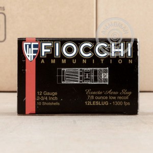 "Picture of 12 GAUGE FIOCCHI LAW ENFORCEMENT LOW RECOIL 2-3/4"" 7/8 OZ. RIFLED SLUG (10 ROUNDS)"