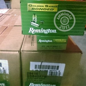 Picture of 45 ACP REMINGTON GOLDEN SABER 230 GRAIN JHP (500 ROUNDS)